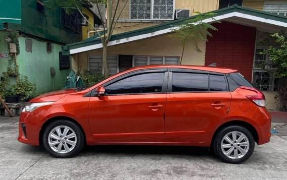 Sell Orange 2016 Toyota Yaris Hatchback at Automatic in  at 24600 in Malabon-3