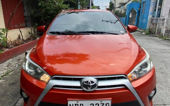 Sell Orange 2016 Toyota Yaris Hatchback at Automatic in  at 24600 in Malabon