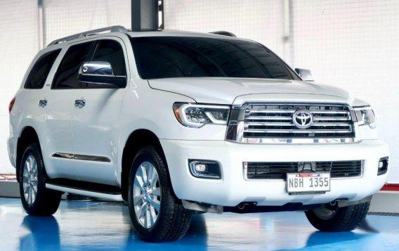 Pearl White Toyota Sequoia 2019 for sale-1