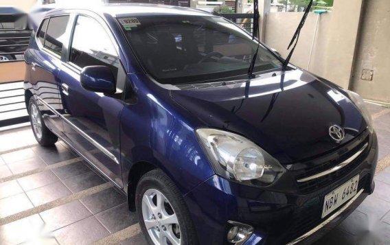 Blue Toyota Wigo 2016 for sale in Samal