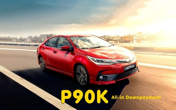 [Promo] Drive home a Toyota Altis 2019 with P90k all-in downpayment this Autumn