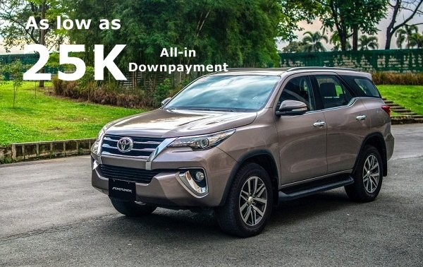 [Toyota Calamba promo] Get the Toyota Fortuner with Php 25,000 All-in Downpayment
