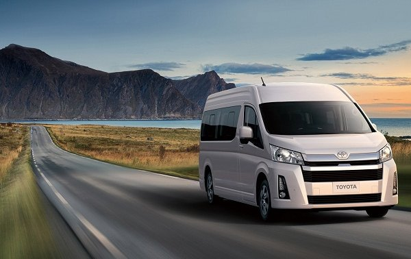 Toyota Hiace on the road