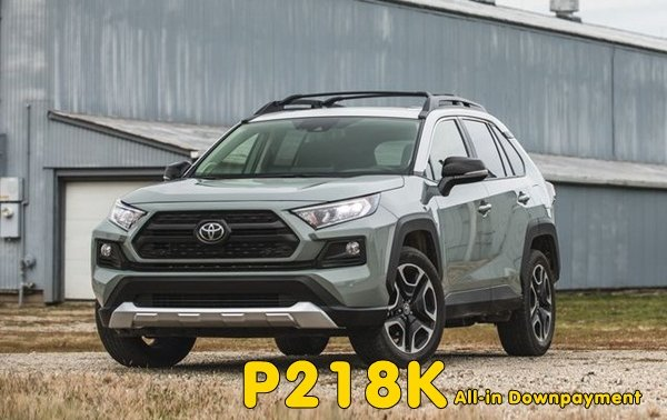 [Toyota promo] Take home a Toyota RAV4 with downpayment of P218k